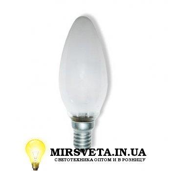 Лампа накаливания свеча ДС 220V 40W E14 матовая