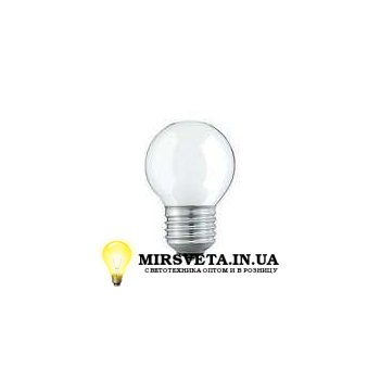 Лампа накаливания шар ДШ 220V 60W E27 матовая
