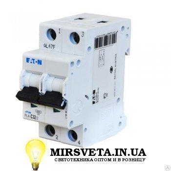 Автоматический выключатель 2п 20А  PL4-C20/2 Eaton