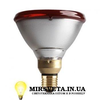 Лампа накаливания инфракрасная ИКЗК 175Вт 220В Е27  PAR38 IR 175W E27 230V Red Philips