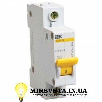 Автоматический выключатель 1п. 16А ВА47-29 1P 16A 4,5кА х-ка C ИЭК