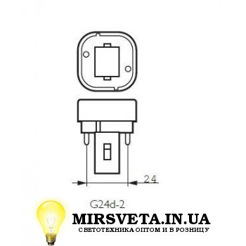 Лампа енерго сберегающая компактно люминесцентная PL-C  13W/830/2P Philips