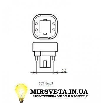 Лампа енерго сберегающая компактно люминесцентная PL-C  18W/830/4P Philips
