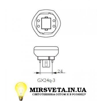Лампа енерго сберегающая компактно люминесцентная PL-T  32W/830/4P Philips