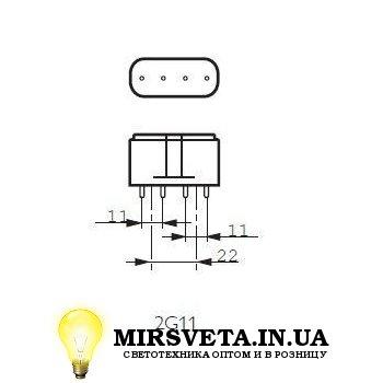 Лампа енерго сберегающая компактно люминесцентная PL-L 55W/840/4P Philips