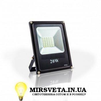 Прожектор светодиодный 20Вт EVRO LIGHT EV-20-01 6400K 1400Lm SMD