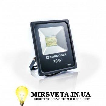 Прожектор светодиодный 30Вт EVRO LIGHT EV-30-01 6400K 2100Lm SMD