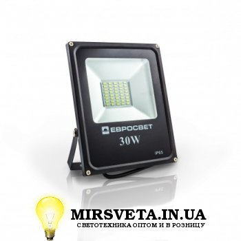 Прожектор светодиодный 30Вт EVRO LIGHT EV-30-01 6400K 2400Lm SMD