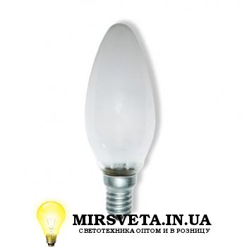 Лампа накаливания свеча ДС 220V 60W E14 матовая